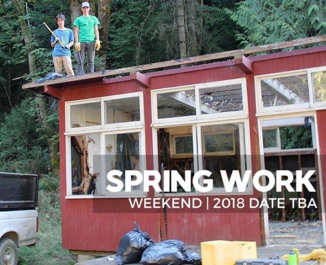 Spring Work Weekend