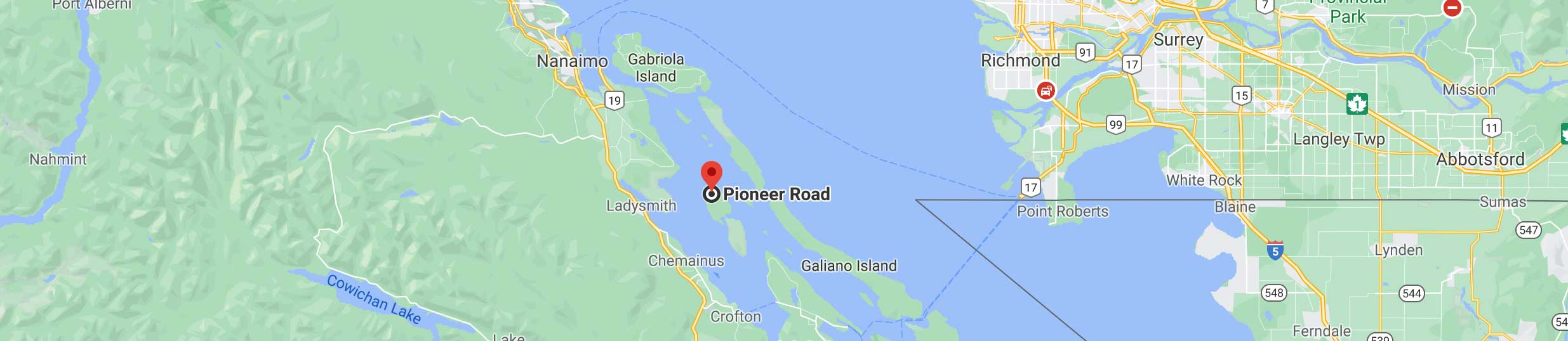 Pioneer Pacific's location indicated on a map. Links to Google maps directions.